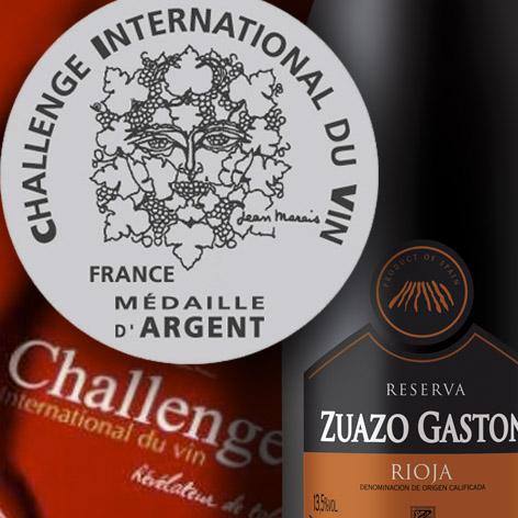 Medalla Plata en Challenge du Vin 2016