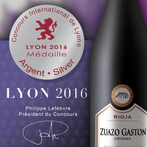 Medalla plata Zuazo Gastón 2013 concurso internacional de Lyon